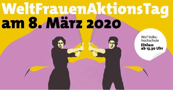 Plakat WeltFrauenAktionsTag