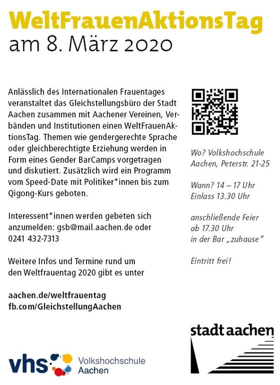 Flyer WeltFrauenAktionsTag